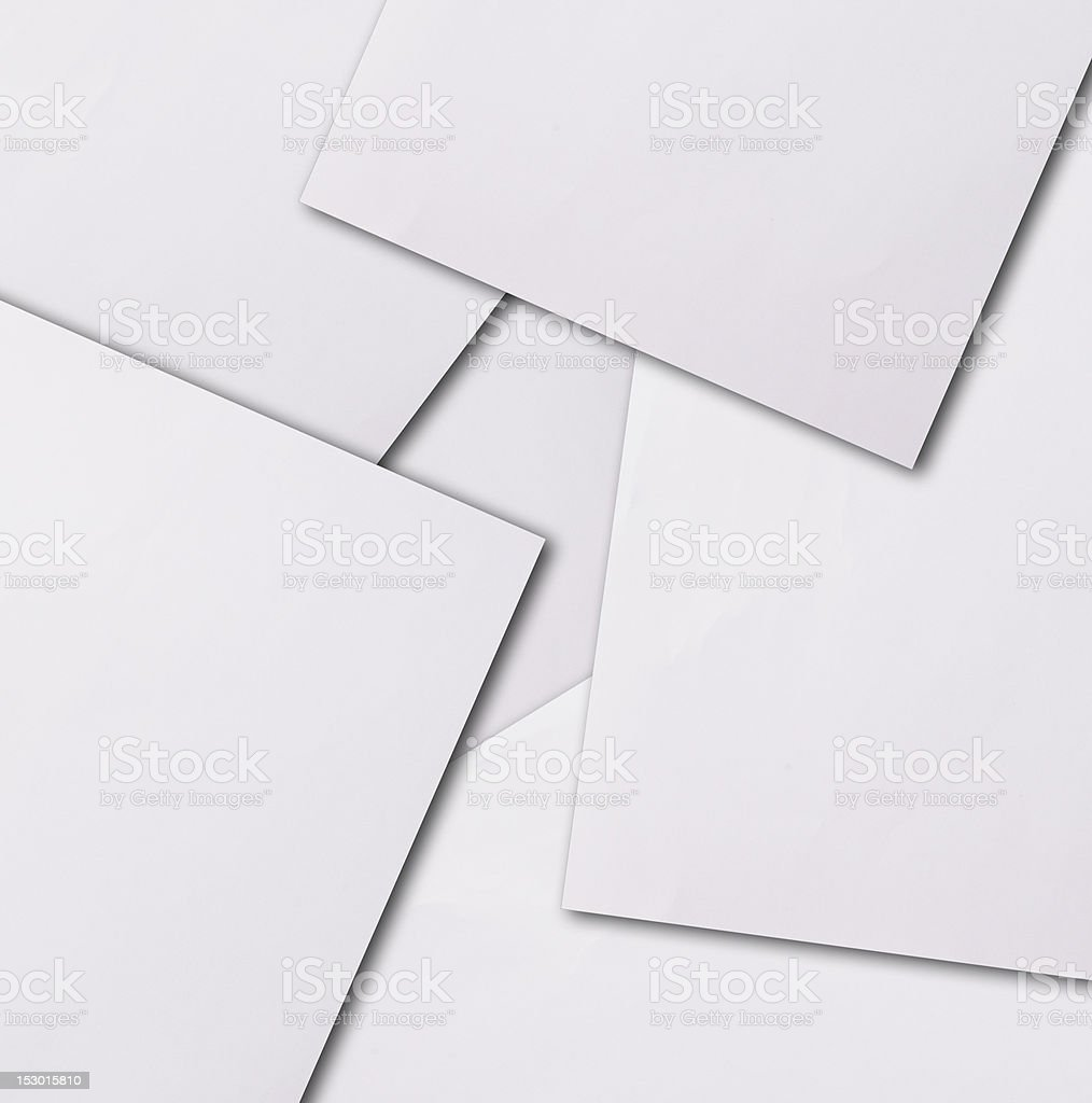Group of  papers royalty-free stock photo