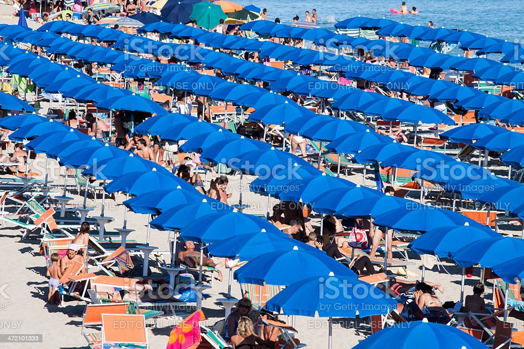 Group of parasol very closed stock photo