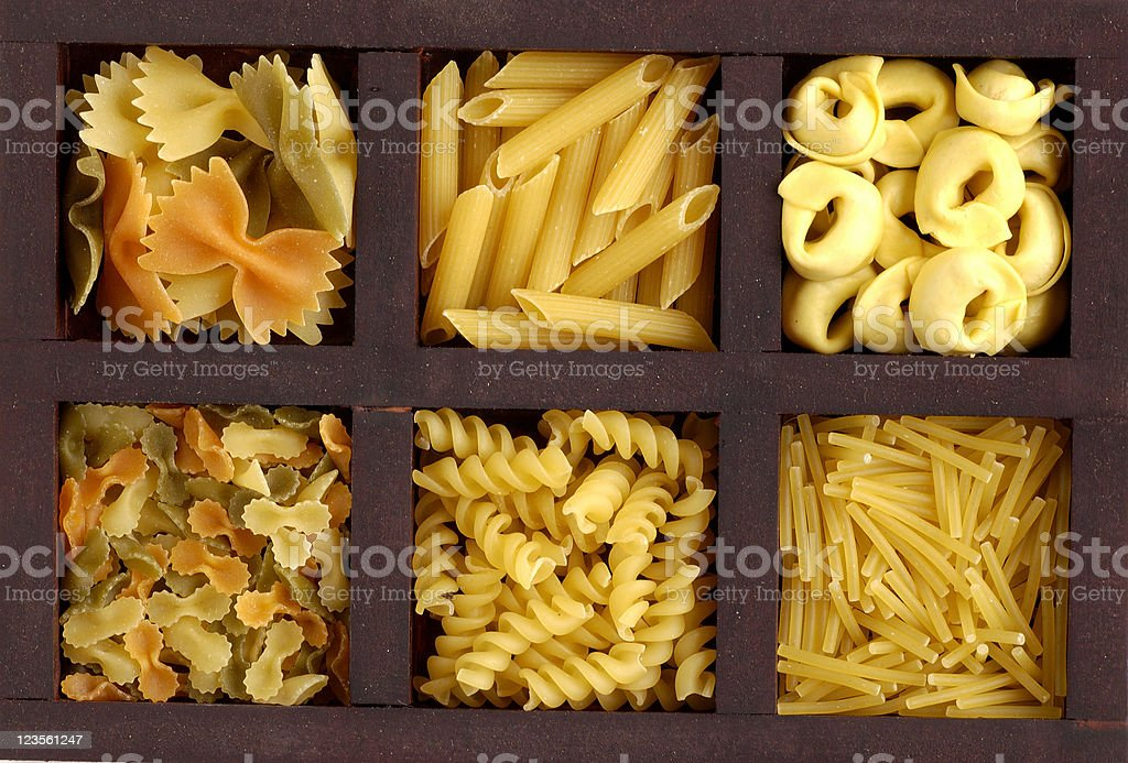Group of pasta royalty-free stock photo