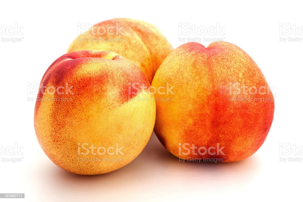Group of peaches royalty-free stock photo