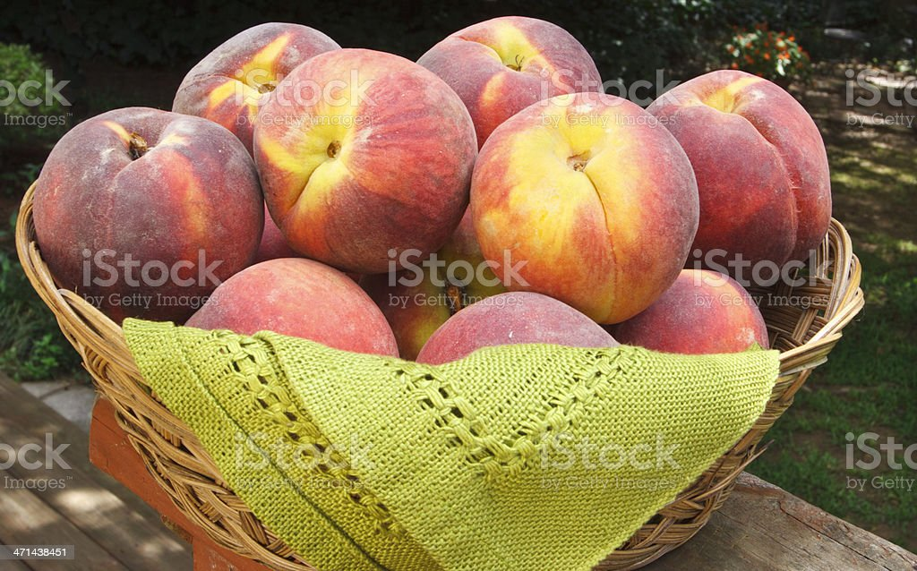 Group of Peaches stock photo