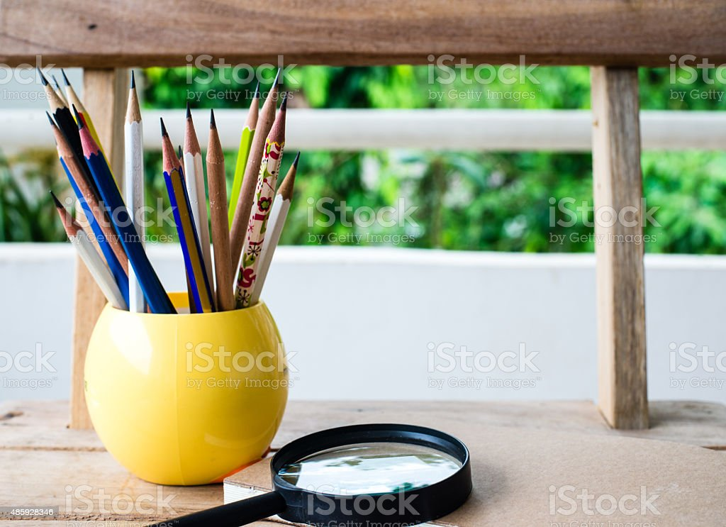 Group of pencils stock photo