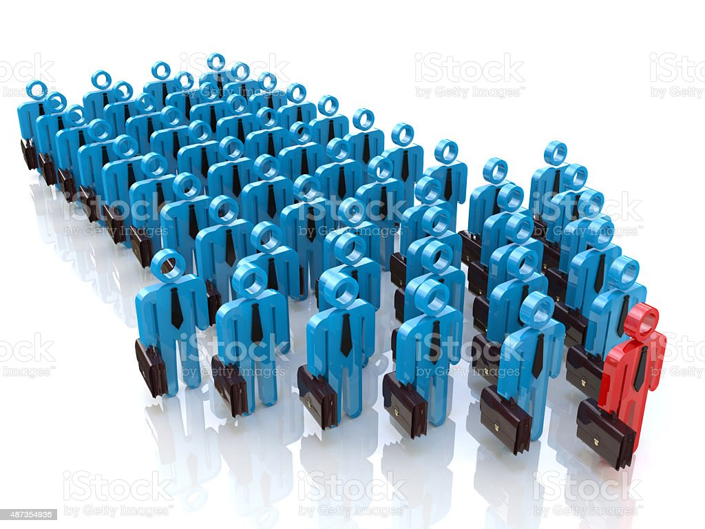 Group of people and leader. Leadership concept stock photo