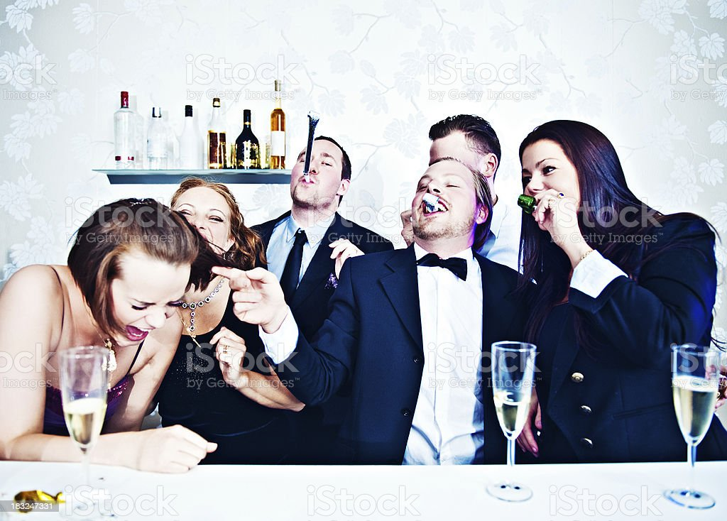 Group of people at a party royalty-free stock photo