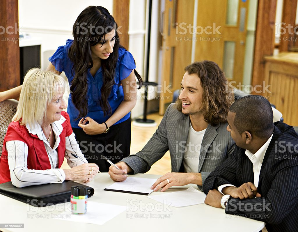 Group of people at business meeting royalty-free stock photo