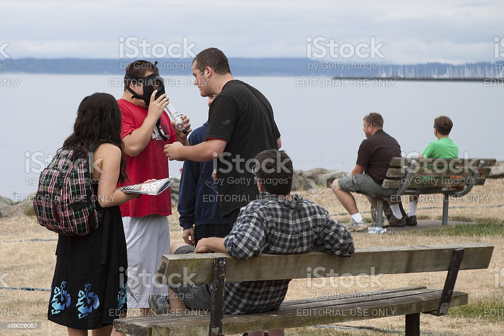 Group of People at Hempfest royalty-free stock photo