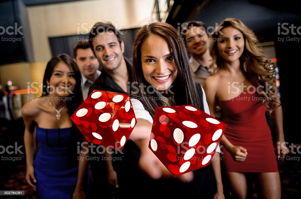 Group of people at the casino stock photo