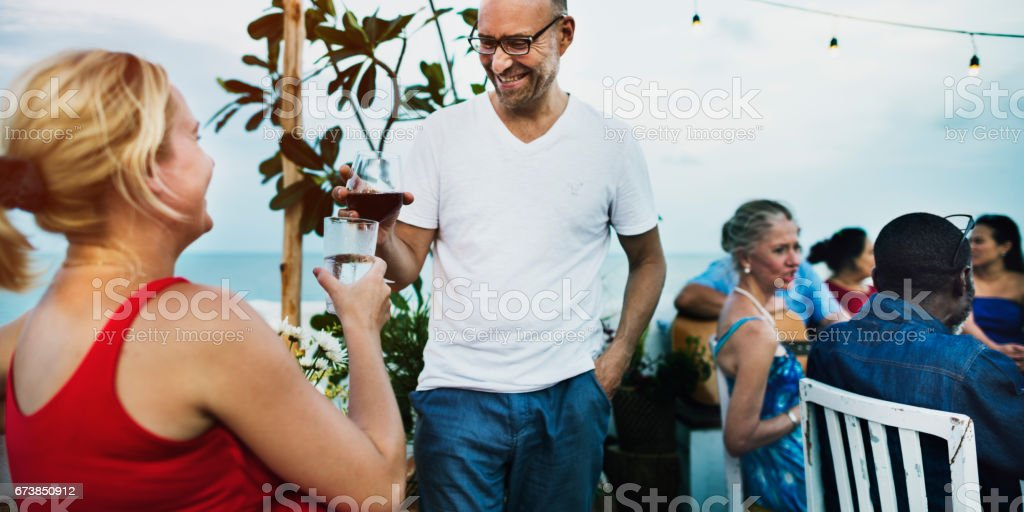 Group Of People Celebrating Concept stock photo