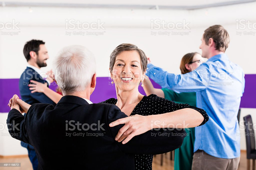 Group of people dancing in dance class stock photo