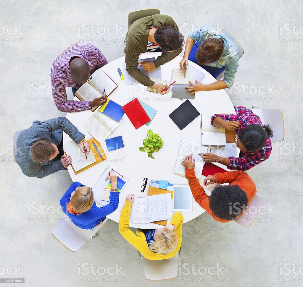 Group of People Discussing stock photo