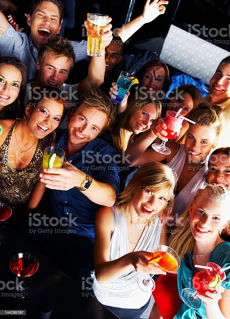 Group of people enjoying a cocktail party royalty-free stock photo