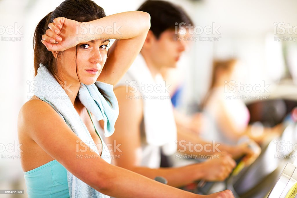 group of people exercising in gym royalty-free stock photo