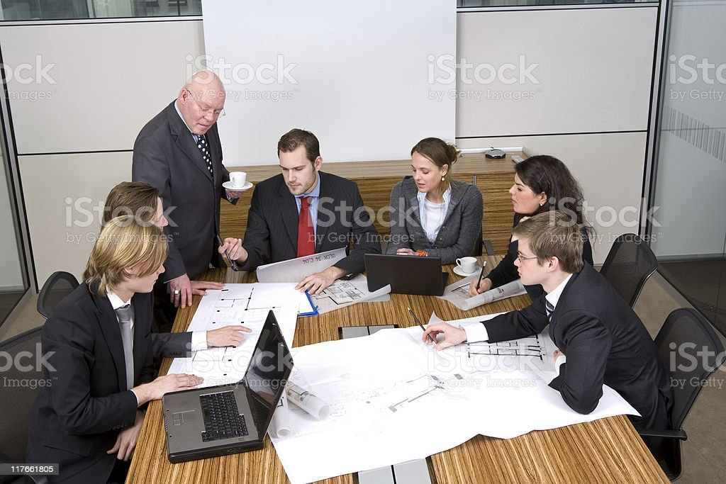 Group of people in a meeting royalty-free stock photo