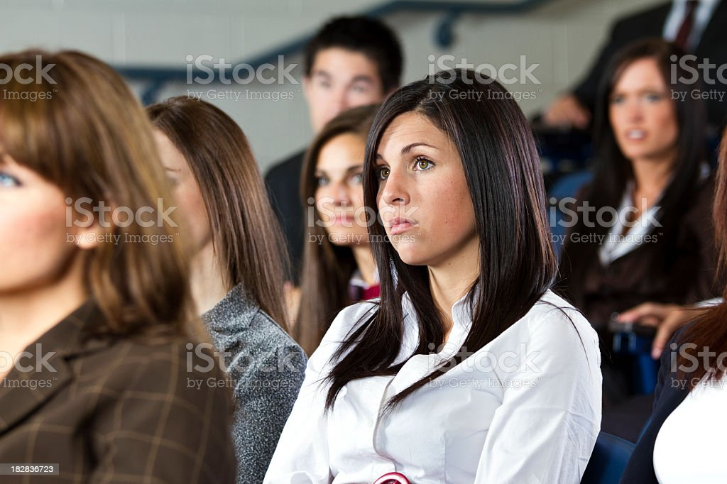 Group of People in an Audience stock photo