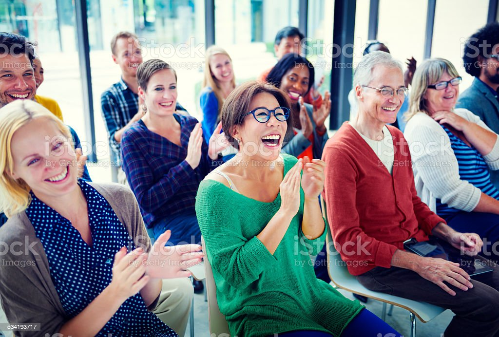 Group of People in Seminar stock photo
