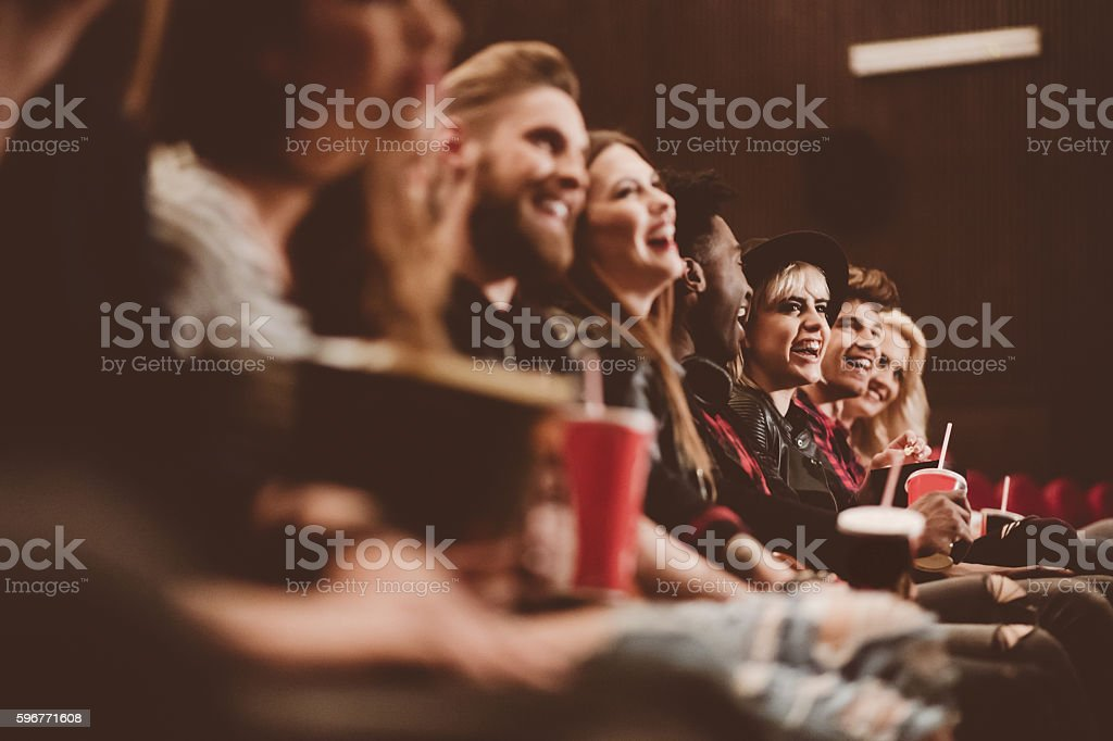 Group of people in the cinema - Photo