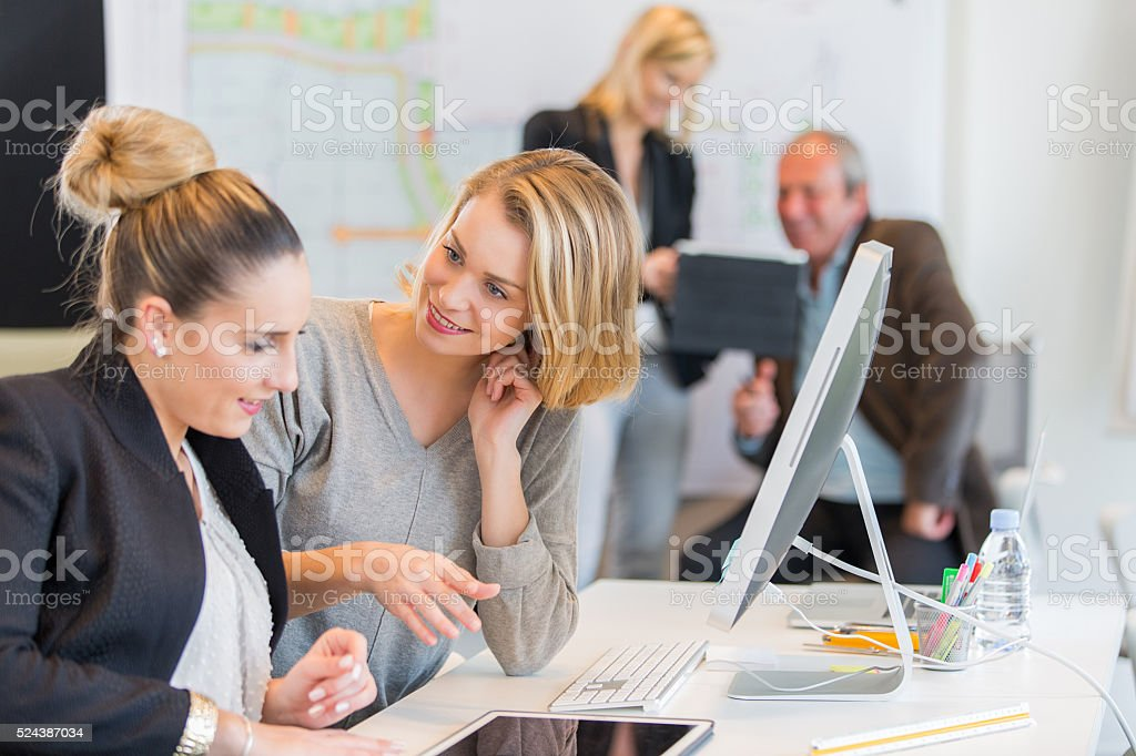 Group of people in training course stock photo
