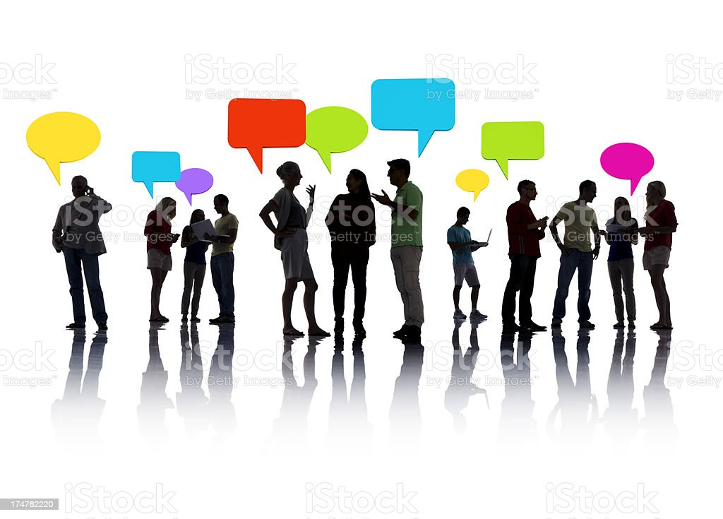 Group of People interacting royalty-free stock photo