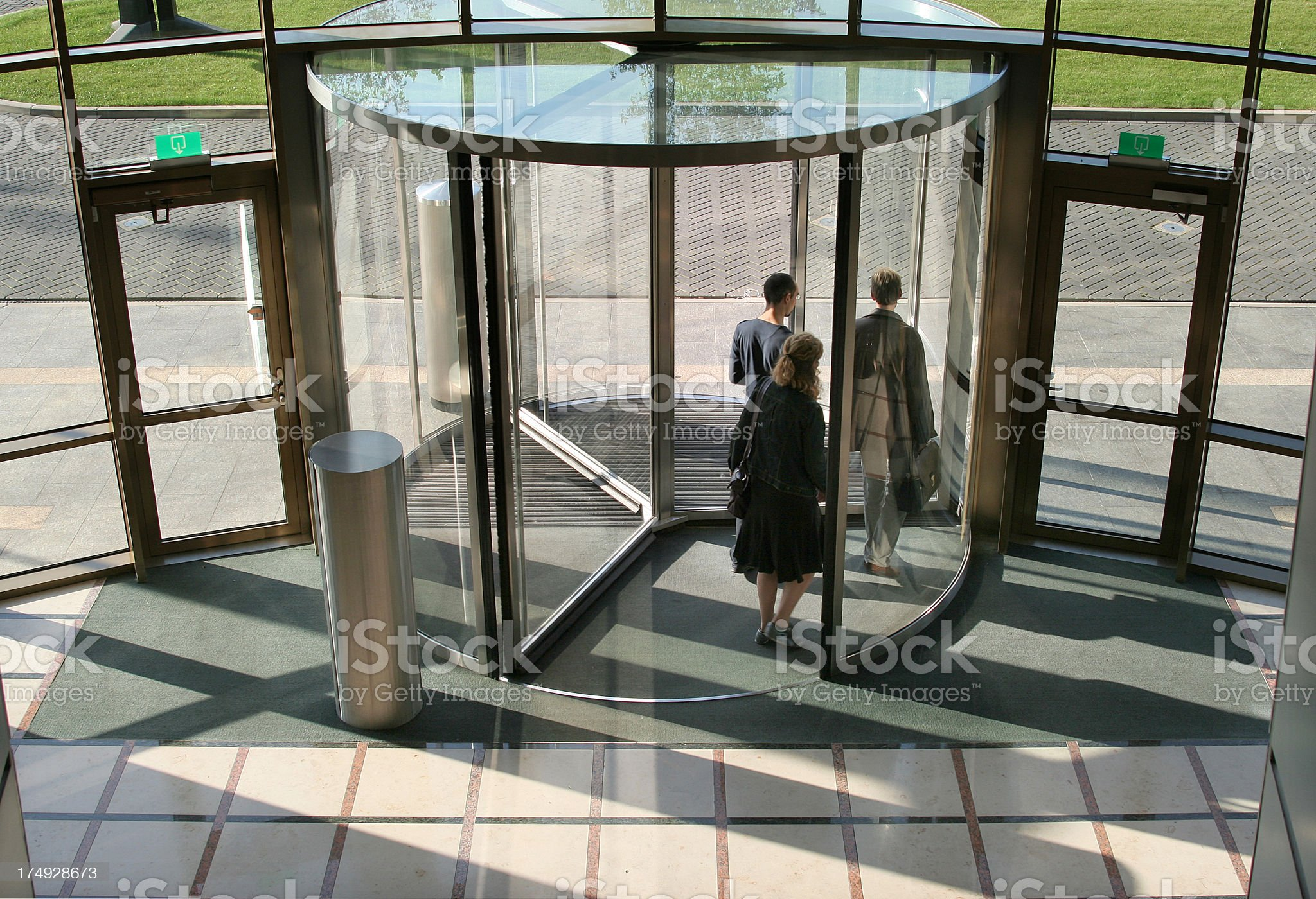 Group of People leaving the Office royalty-free stock photo