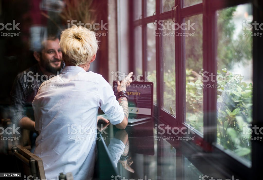 Group of People Meeting to Create and planning stock photo