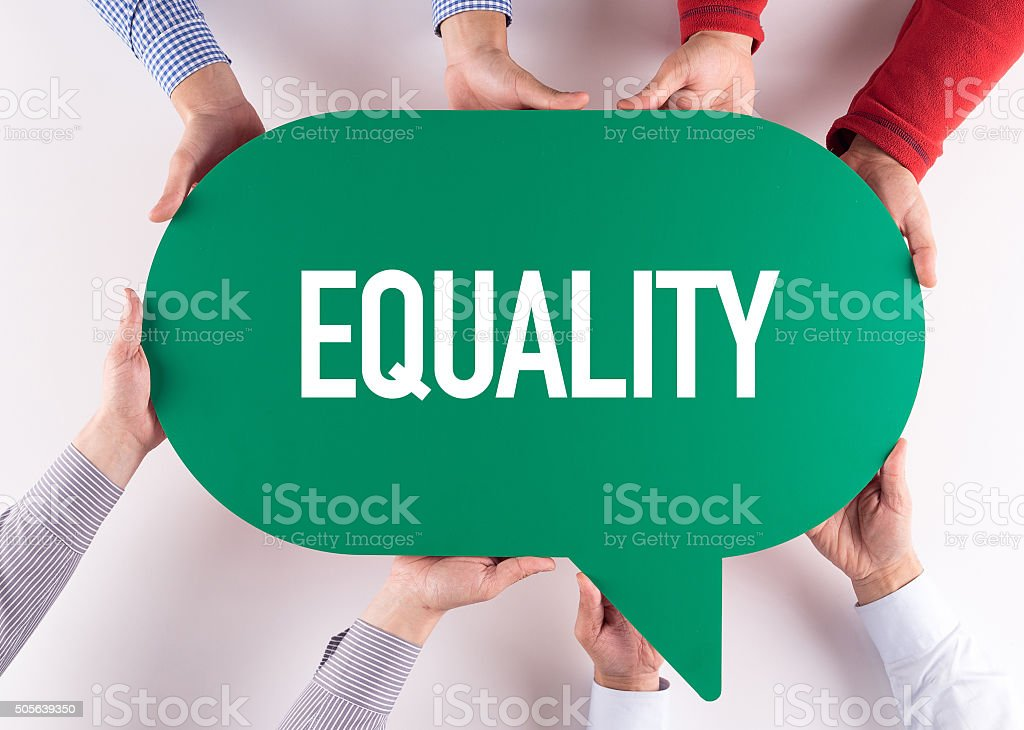 Group of People Message Talking Communication EQUALITY Concept stock photo