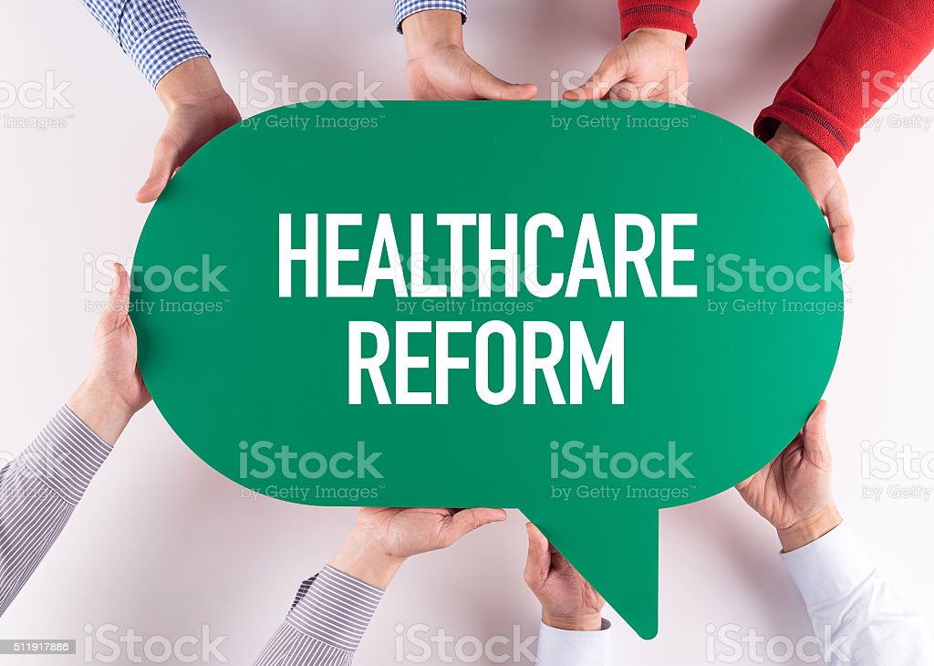 Group of People Message Talking Communication HEALTHCARE REFORM stock photo