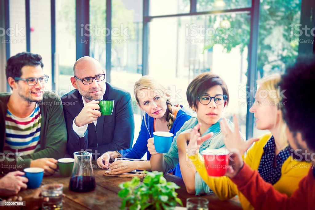 Group of People on Coffee Break Concept stock photo
