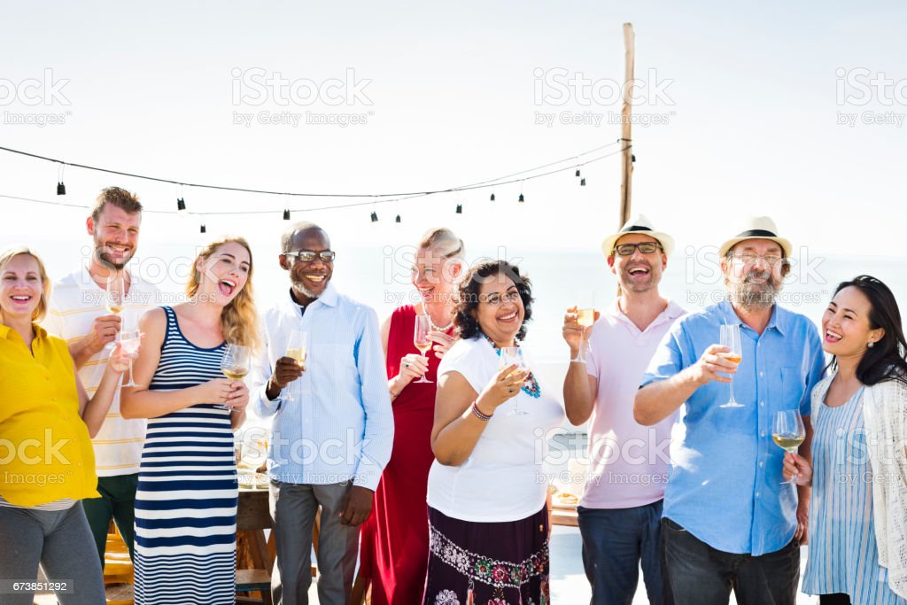 Group Of People Party Concept stock photo