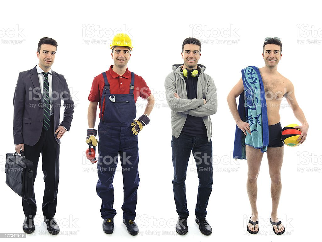 Group of people standing royalty-free stock photo
