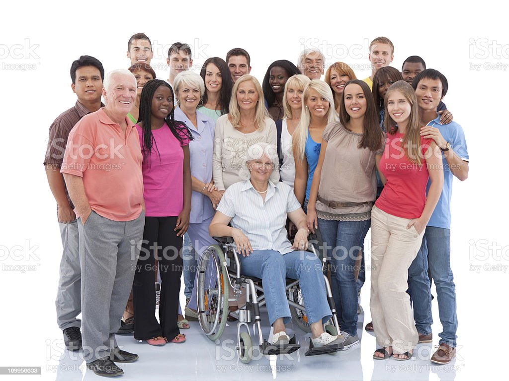 Group of people standing together. royalty-free stock photo