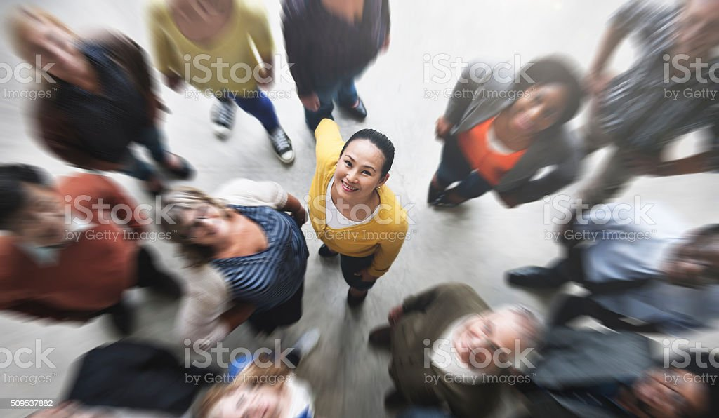 Group of People Team Diversity Smiling Concept stock photo
