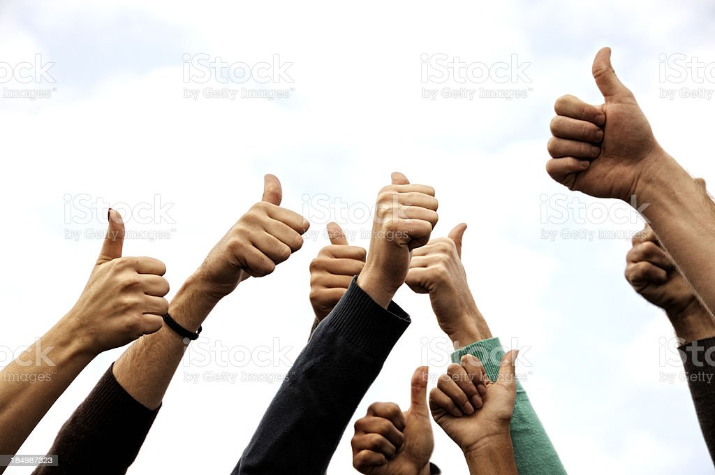 Group Of People Thumbs Up royalty-free stock photo
