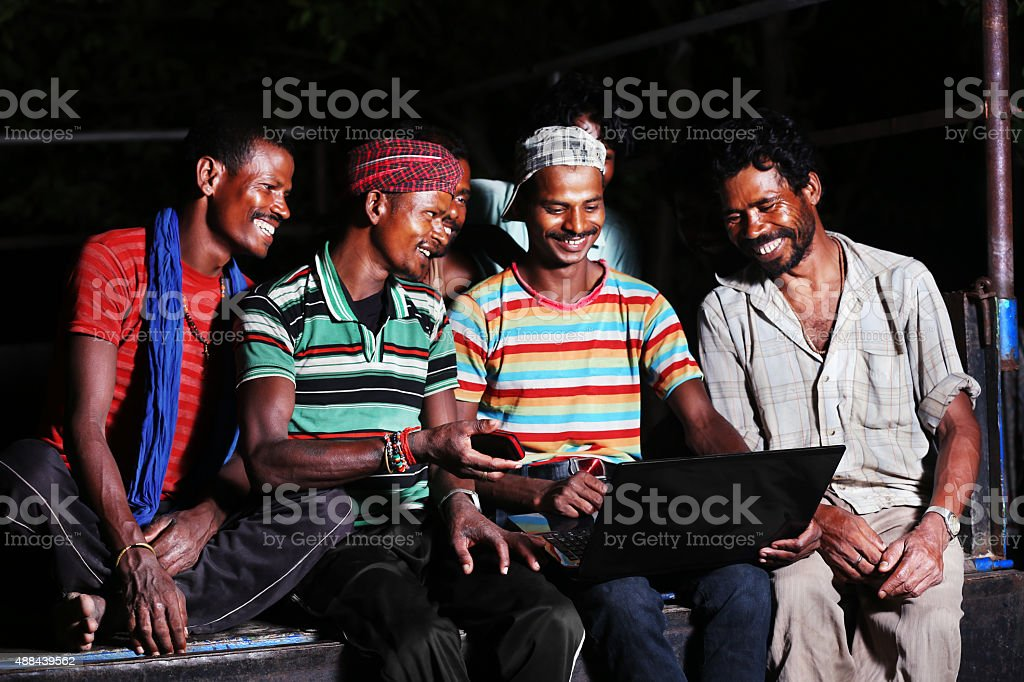 Group of people using laptop stock photo
