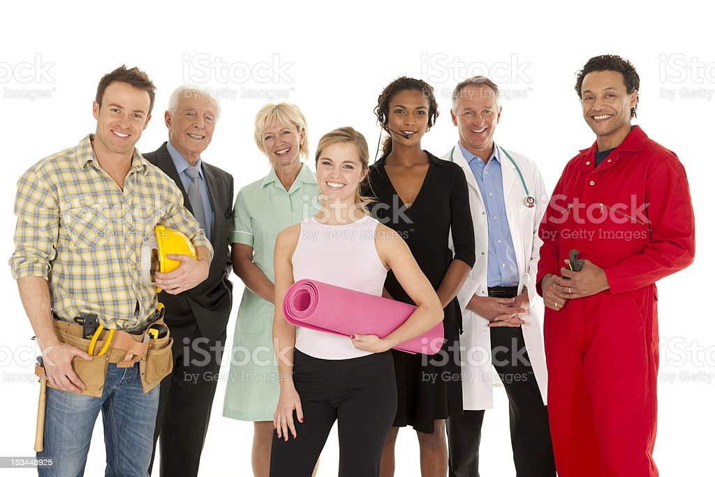 Group of People with different occupations royalty-free stock photo