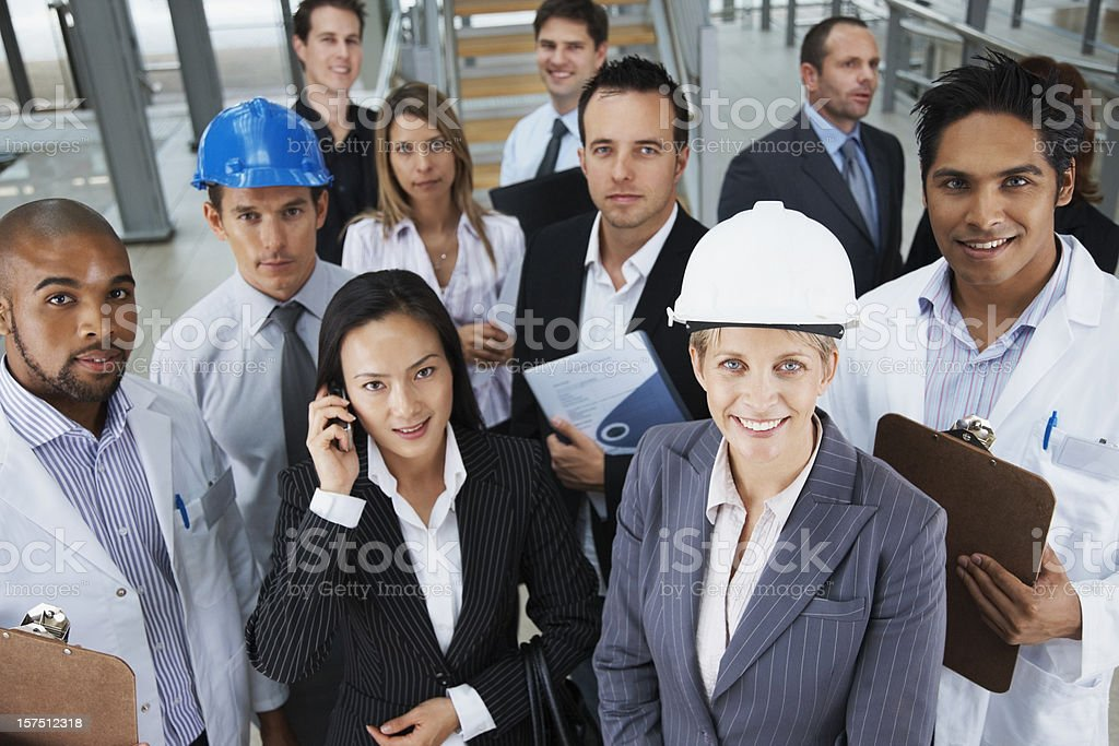 Group of people with different professions stock photo