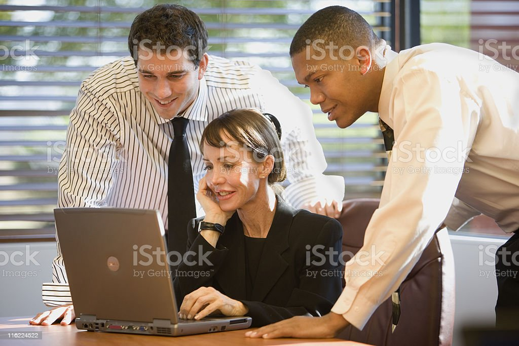Group of People Working Together royalty-free stock photo