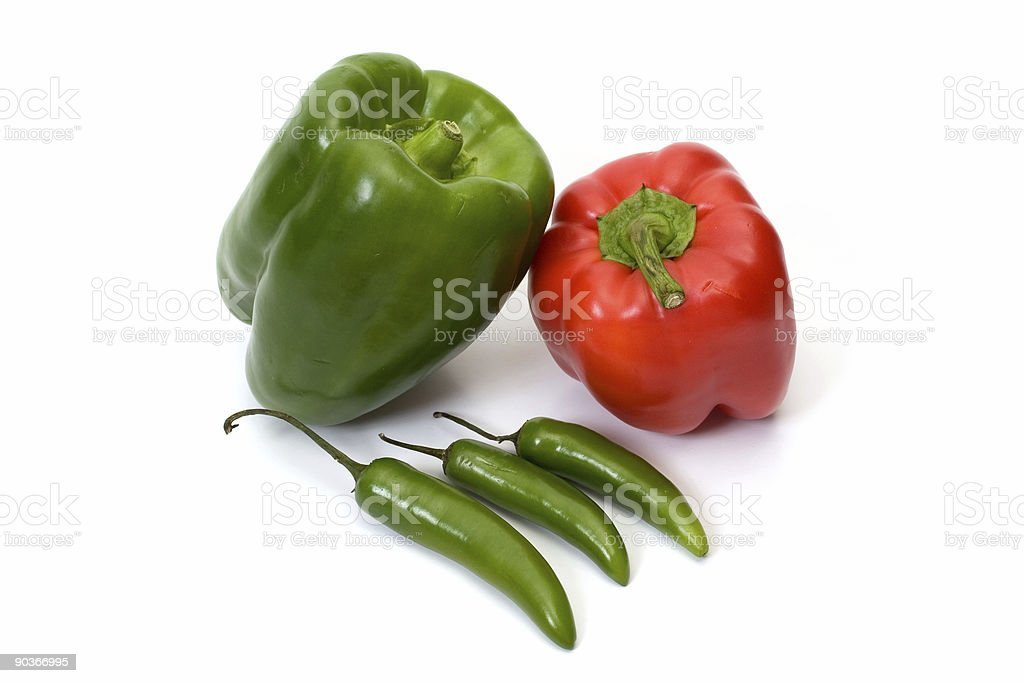 Group of peppers royalty-free stock photo