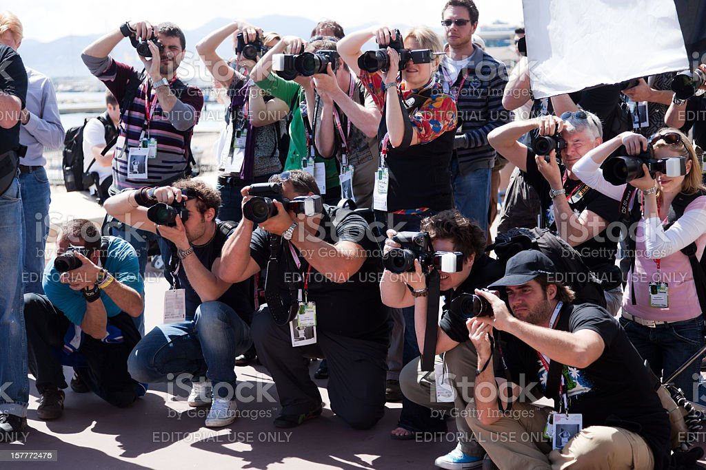 Group of Photographers stock photo