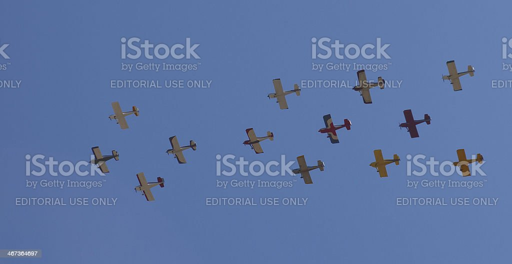 Group of Planes Flying stock photo