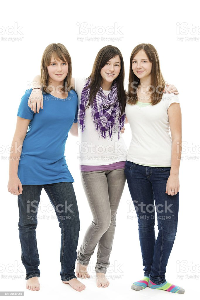 Group of Pretty Girls Standing Together royalty-free stock photo