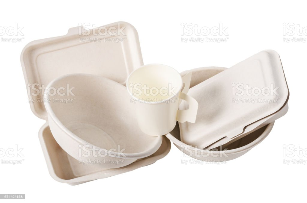 Group of product made from bagasse stock photo