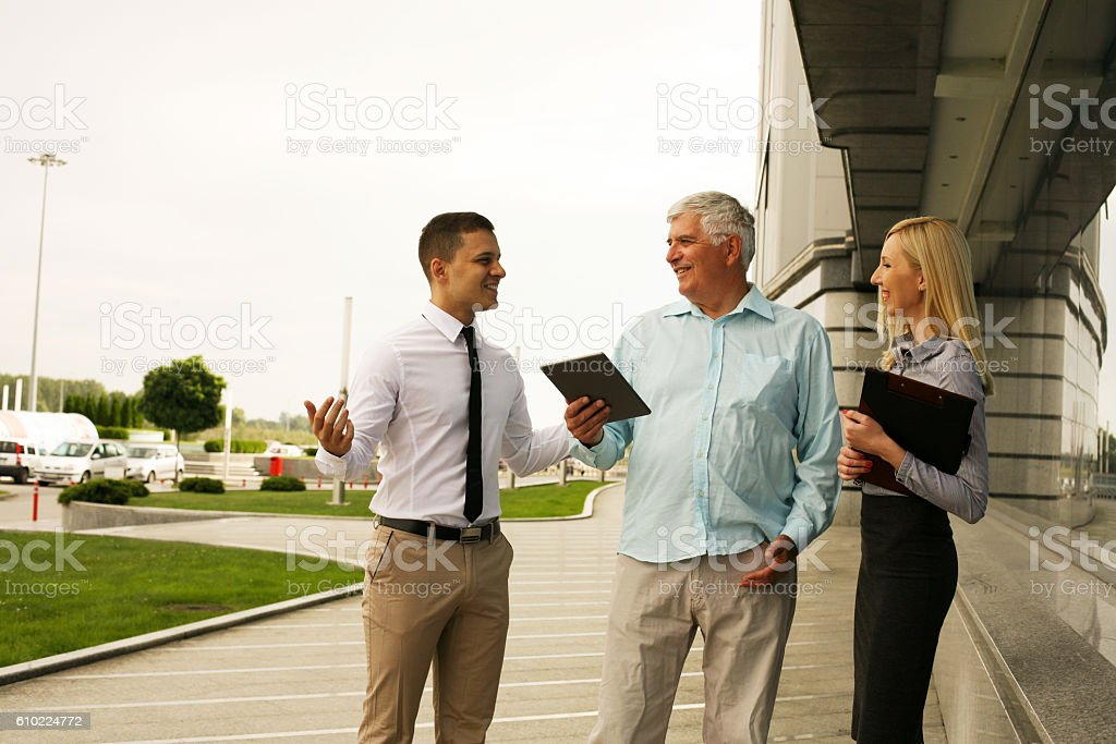 Group of professional business people. stock photo