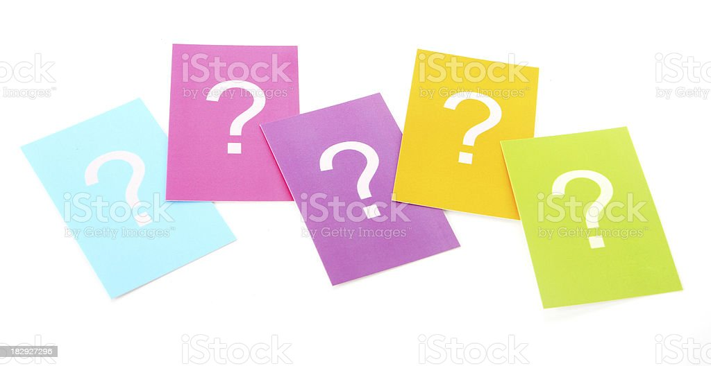 Group of Questions royalty-free stock photo