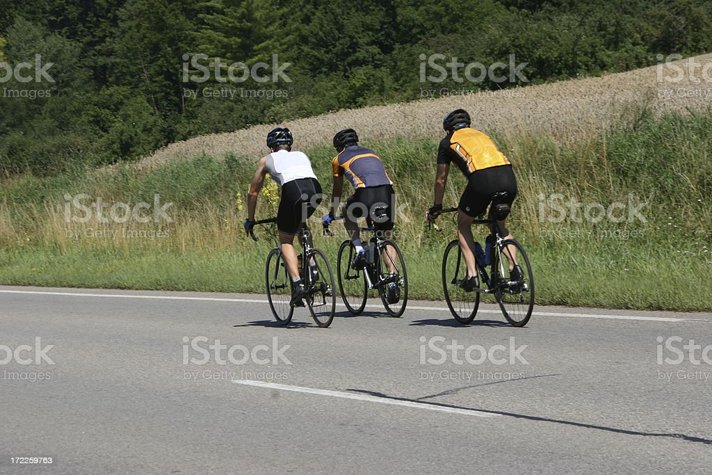 group of racing cyclists royalty-free stock photo