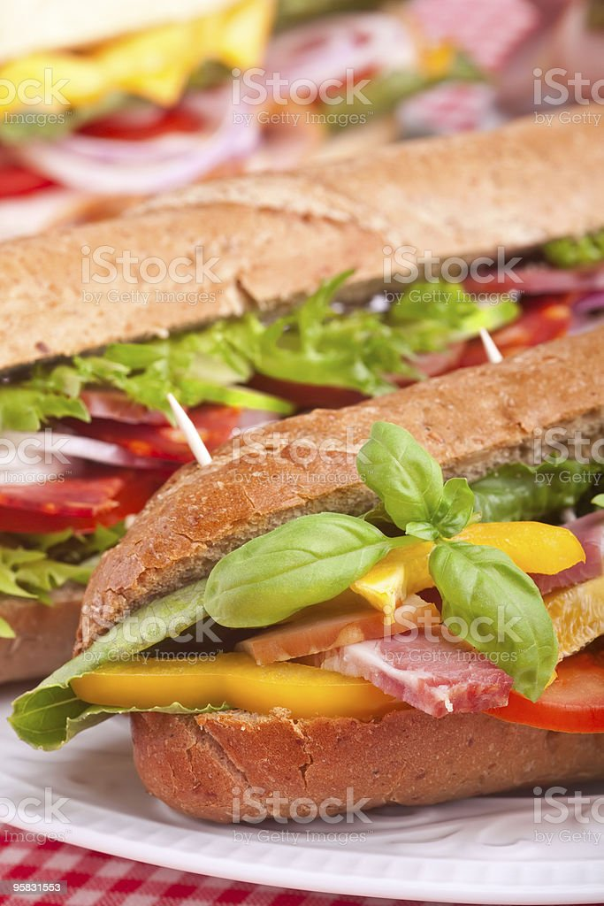 Group of sandwiches royalty-free stock photo