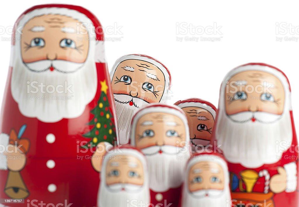 Group Of Santa Claus royalty-free stock photo