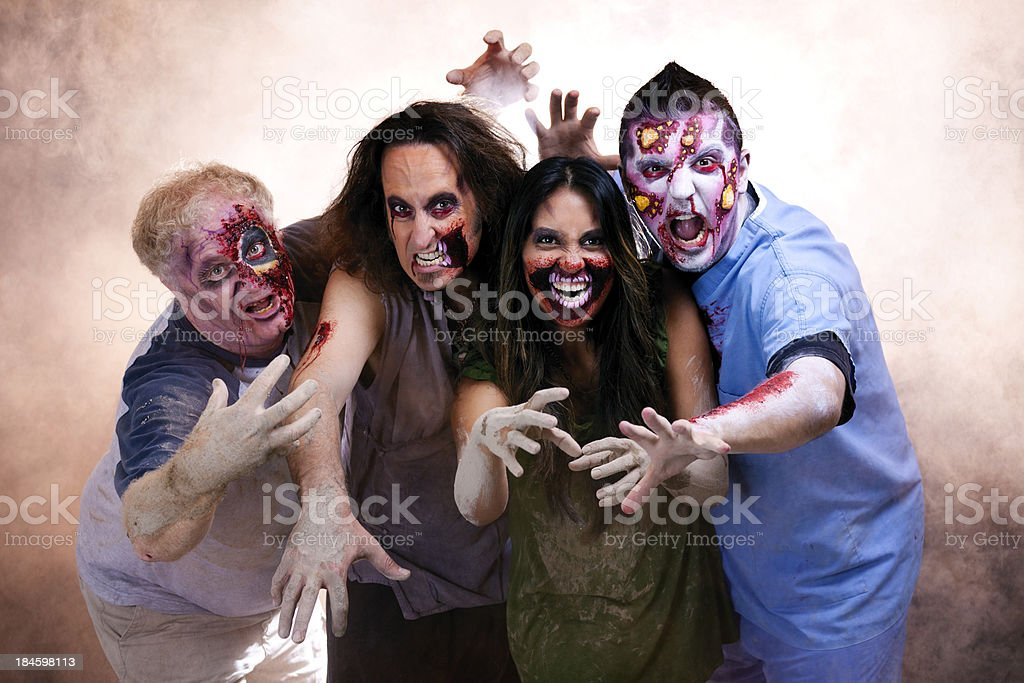 Group of Scary Zombies stock photo
