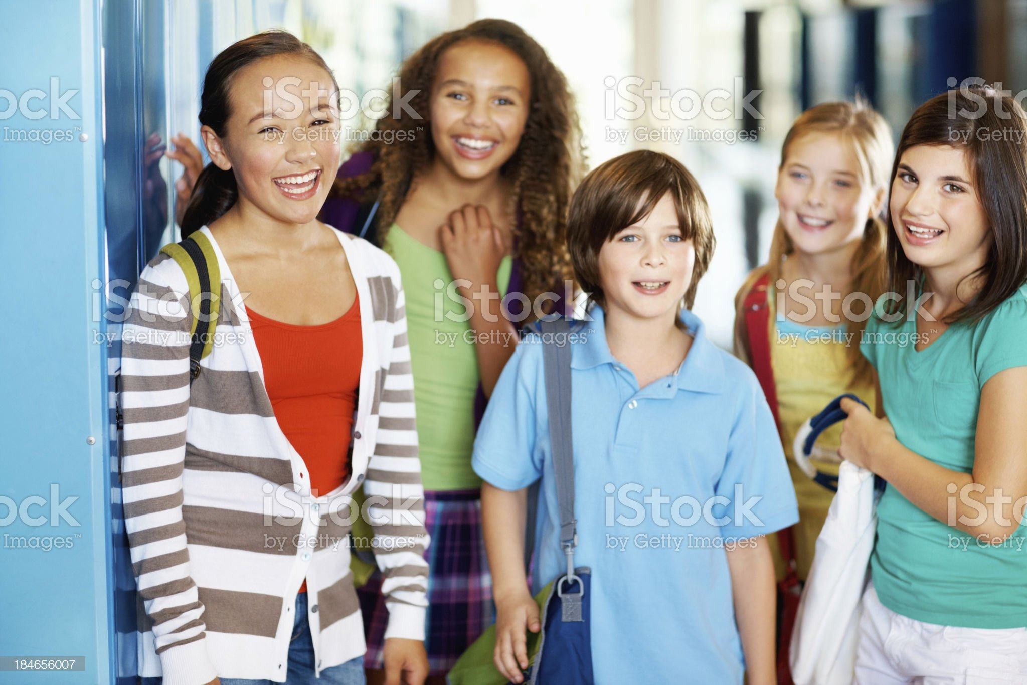 Group of school pupils royalty-free stock photo