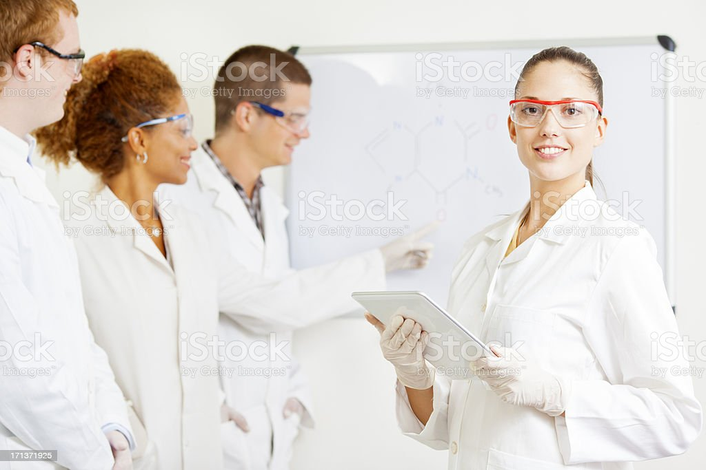 Group of Scientists at work in a lab. royalty-free stock photo
