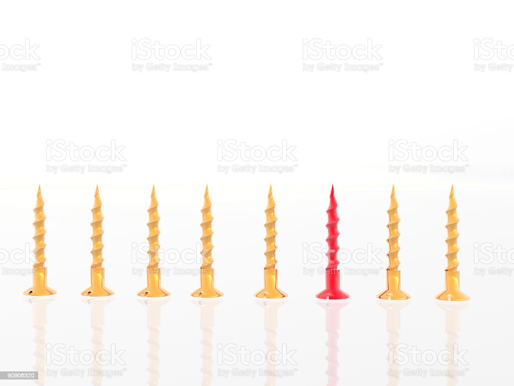 Group of screws royalty-free stock photo